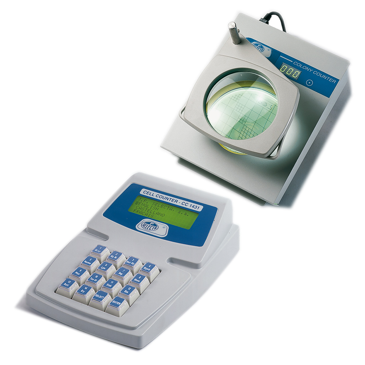 Digital blood cell counter,  colony counter