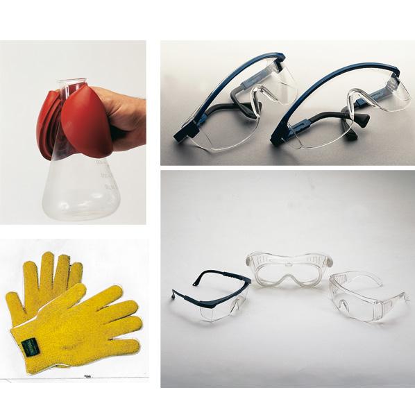 Glasses, gloves, masks, etc ...