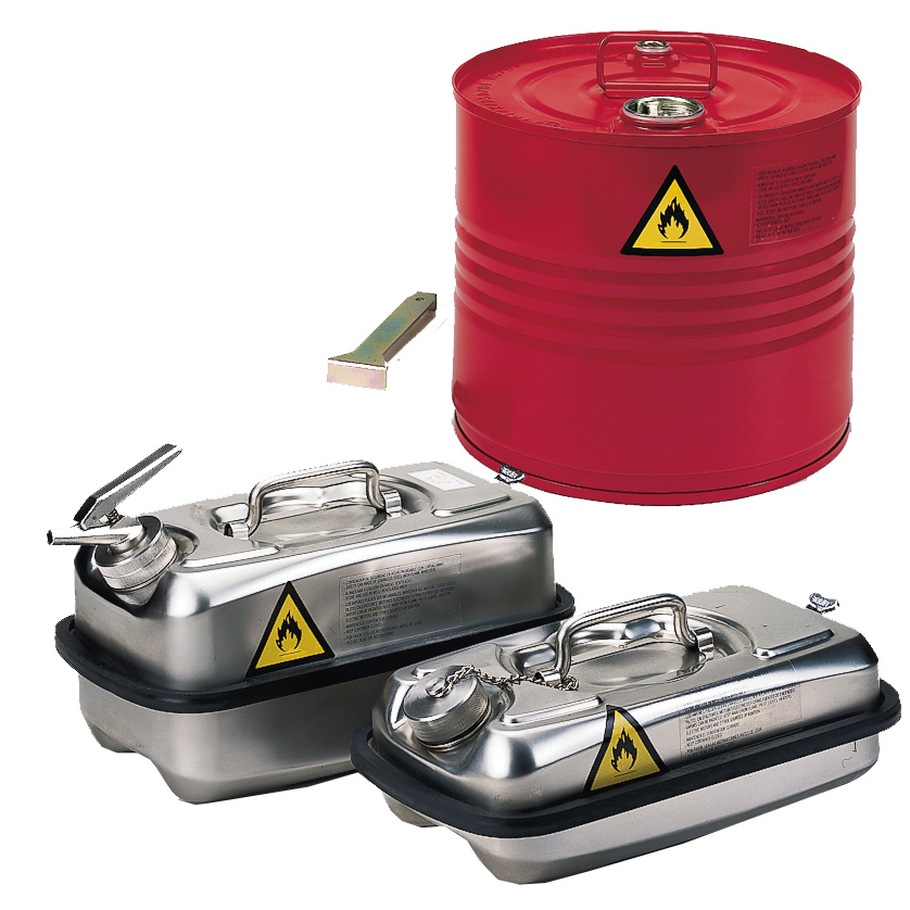 Drums, containers and tanks.