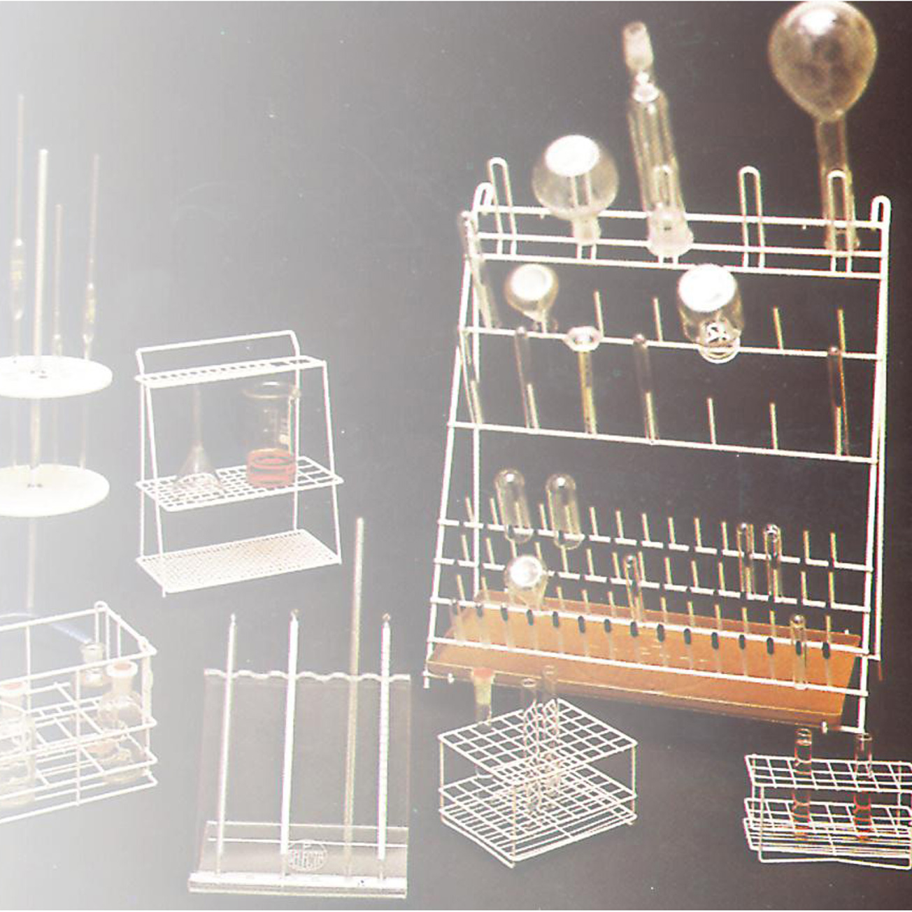 Racks, baskets and storage for tubs, pipettes and flasks